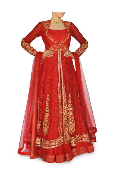 Designer Red maroon bridal lehenga