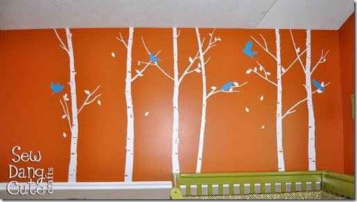 Nursery: Orange, White & Teal: Kid Bedrooms, For Kids, Creative Kids, Gator Kids, Kiddie Ideas, Birds, Kids Rooms