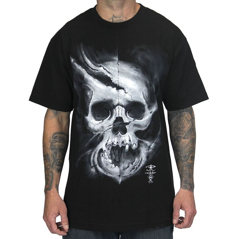 Sullen Angst Tattoo Style Skull Tshirt
