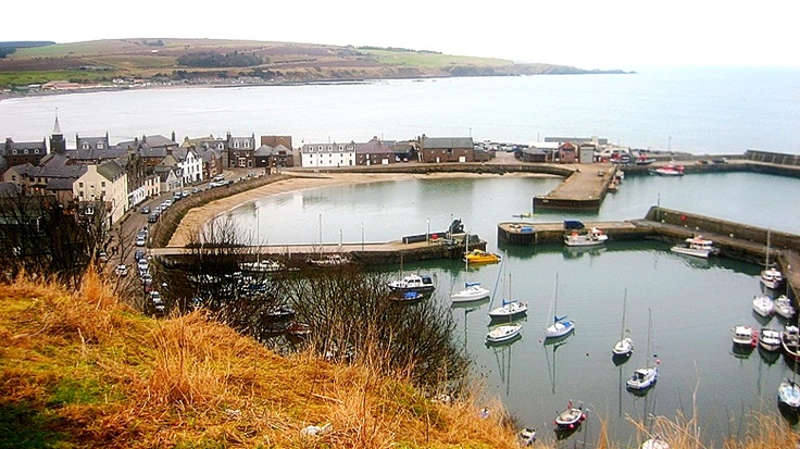 A  bird's eye-view of Stonehaven harbour.
