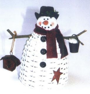 Basket Weaving Patterns: Standing Snowman Basket Pattern