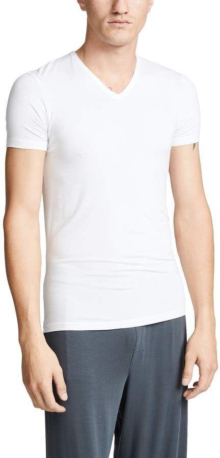 Calvin Klein Underwear Bodysuit Modal V Neck T-Shirt