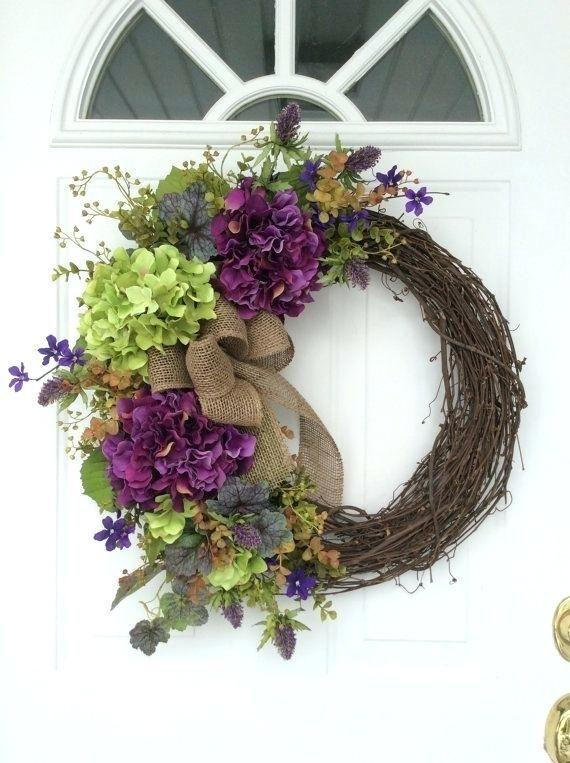 Front Door Wreath Ideas For Spring Spring Wreaths Hydrangea Wreath