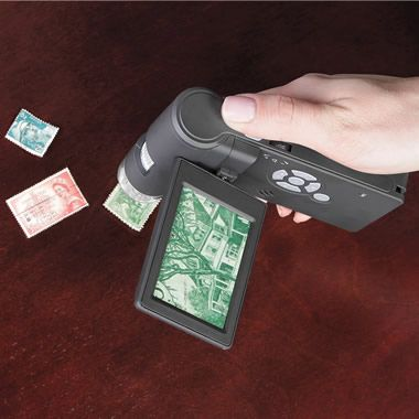The 500X Handheld Digital Microscope - Hammacher Schlemmer  I want one!!