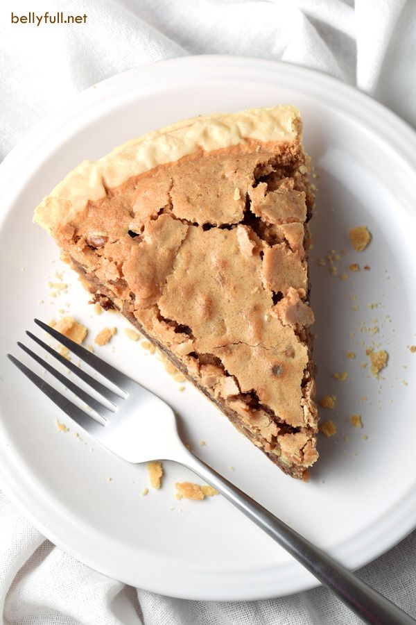 A chocolate chip cookie in pie form. Easy, rich, and perfect served with vanilla ice cream.