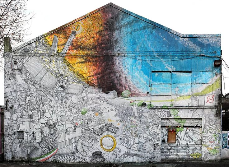 New Murals from Blu on the Streets of Italy