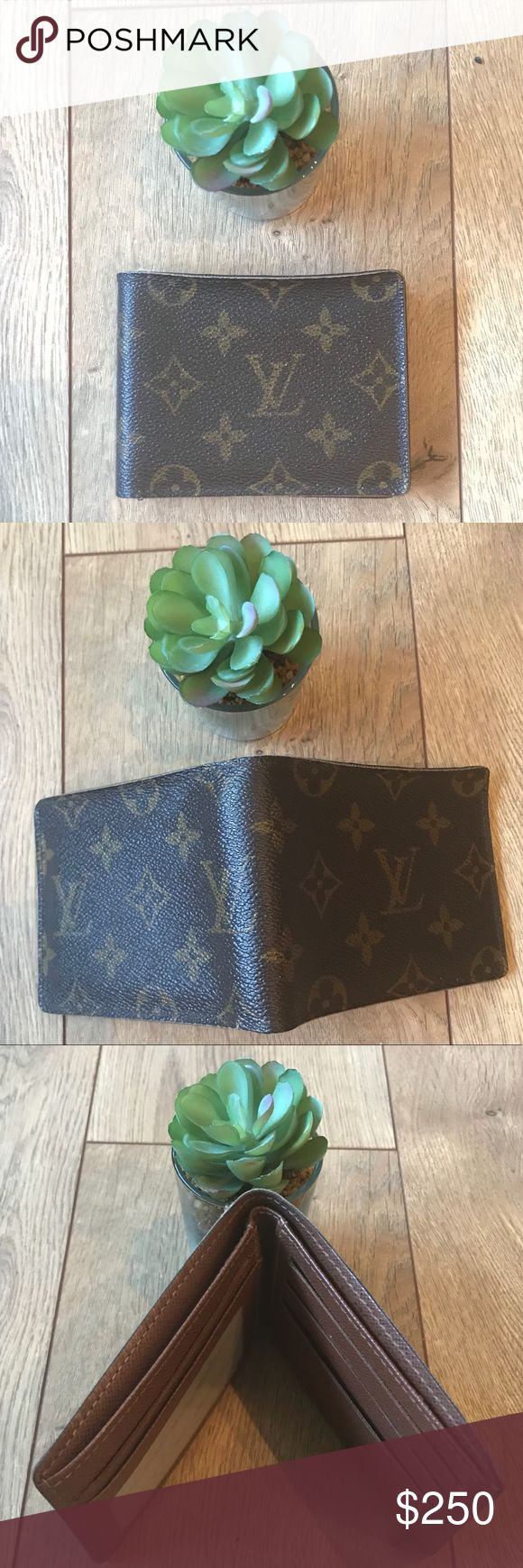 Authentic Used Louis Vuitton Mens Wallet Used Louis Vuitton Monogram Mens Porte Billets 3 Card Billfold Wallet in great condition   This stylish wallet is finely crafted of fine grain leather in Louis Vuitton's signature monogram print. The wallet opens to a compact leather interior with card slots and a central bill fold. This is an excellent mens wallet for everyday use, from Louis Vuitton! Louis Vuitton Accessories