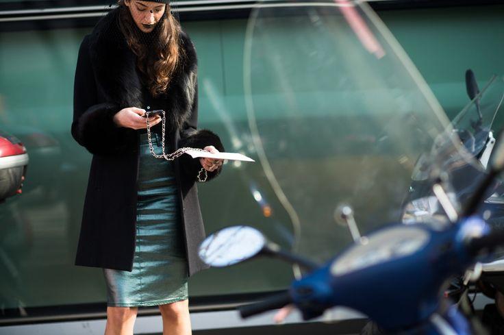 On the Streets of Milan Fashion Week Fall 2014  - Milan Day 3