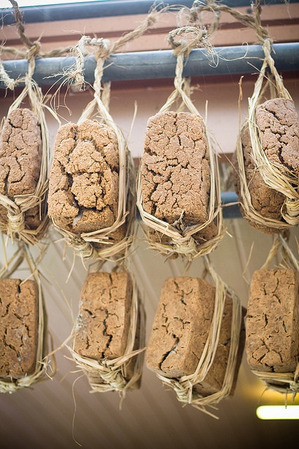 Meju (메주) or Soybean Malt: Used to make condiments, such as doenjang, gochujang, or ganjang