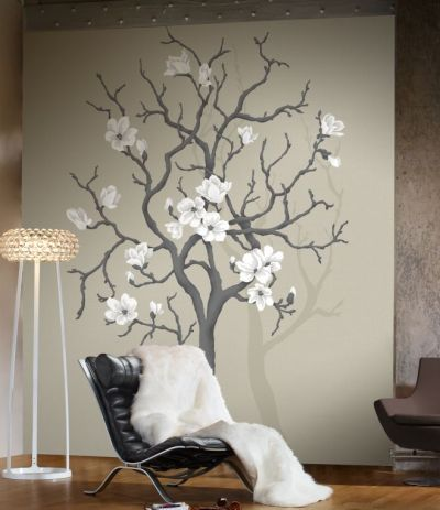 Mural: arbol con flores