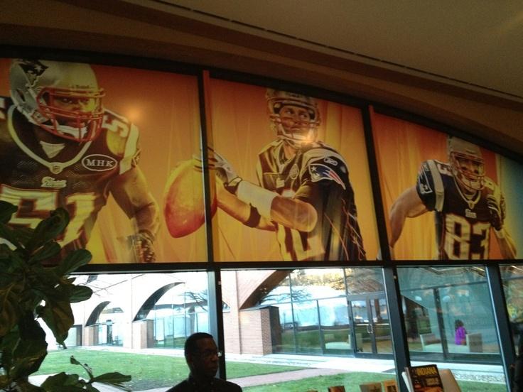 Patriots decor at the team hotel in Indiana for Super Bowl XLVI. Sun, Jan 29, 2012 #PatriotsTeam Hotels, 2012 Patriots, Patriots Decor, England Patriots, Pat Decor