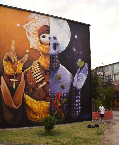 Puro talento... visiten la página original!!! http://www.todoelcolor.cl/2013/04/street-art-graffiti/los-trabajos-de-inti-en-este-2013/