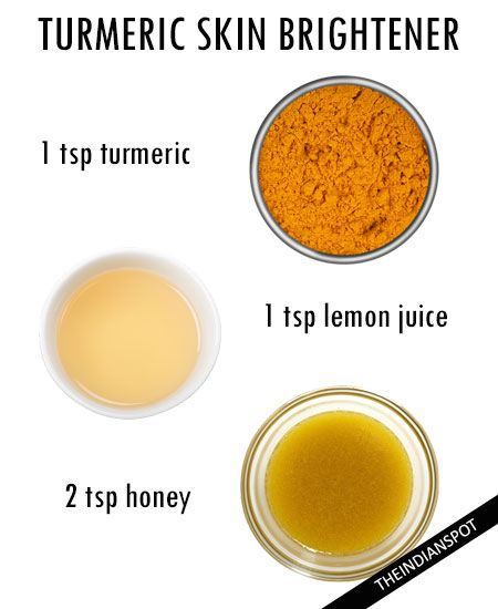 Brighten skin with turmeric