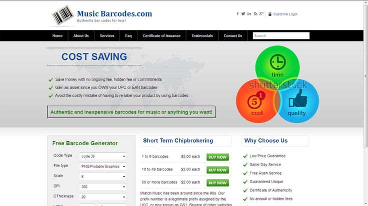 When one looks up on the web, he may find many different websites that sell barcodes for certifying the music.