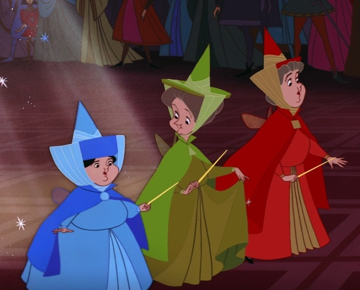 Flora, Fauna and Merryweather. Admit it, you thought they were adorable lol