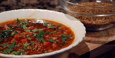 freekah and pancetta soup- The Cook & The Chef