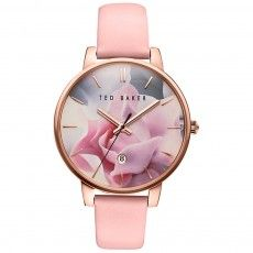 Ladies Ted Baker Katie Pink Leather Strap Watch