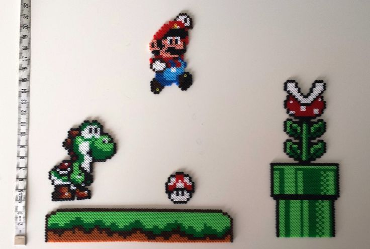 Objet Mario en mini perle à repasser Hama