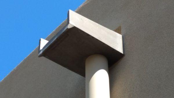 Canales Roof Scuppers Fiberspan Concrete Elements Wood Roof Decorative Downspouts Concrete