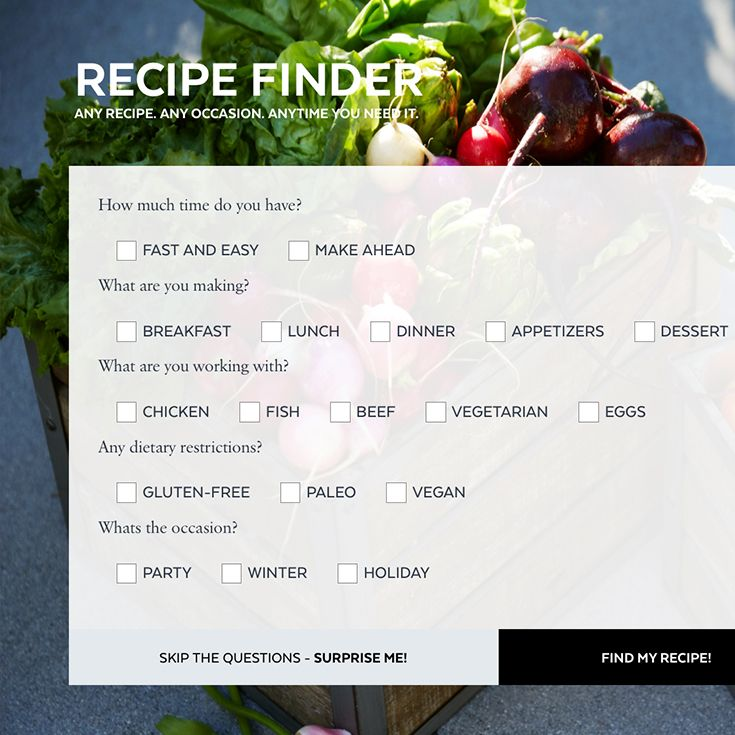 Best 25 recipe generator ideas on pinterest ingredient recipe find your perfect meal with our new custom recipe generator forumfinder Images