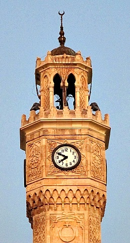 Konak Square clock tower. Izmir, Turkey