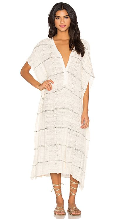 Free People Whispering Wind Poncho Dress in Cream Combo | REVOLVE