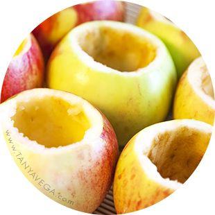 Чашечки из яблока