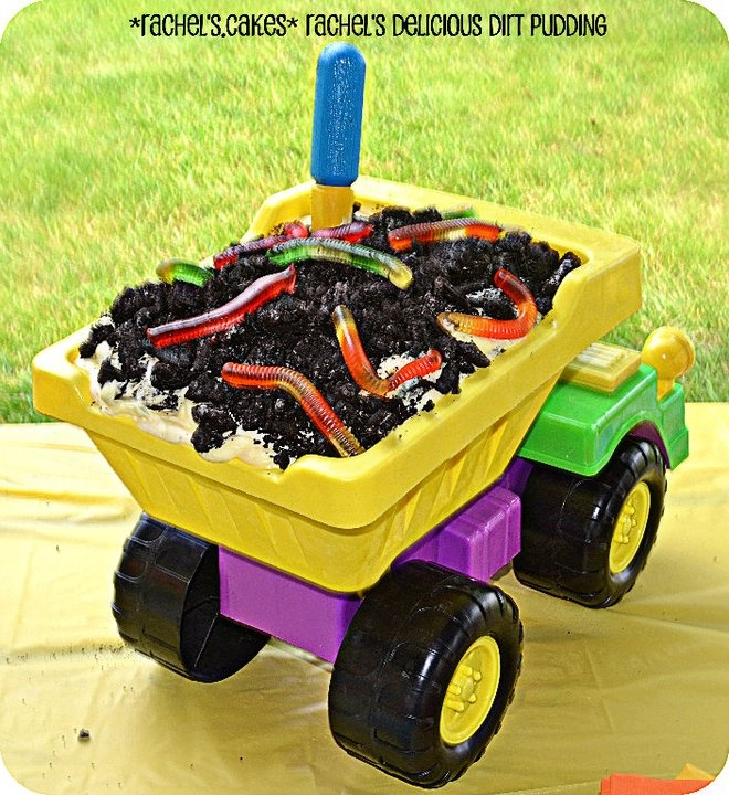 Dump Truck Dirt Cake : Construction Birthday Party!  Visit *Rachel's Cakes* on Facebook