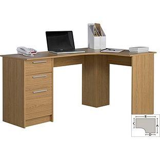 Buy Large Corner Desk - Oak Effect at Argos.co.uk, visit Argos.co.uk to shop online for Desks and workstations