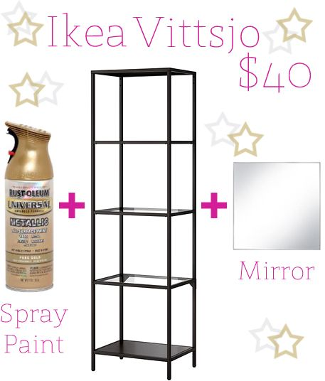 DIY Gold Shelving Unit  IKEA Vittsjo