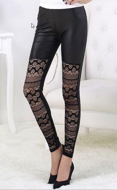 socks tights leggings fitness sports for women Sexy see through Yoga Pants Black mesh gym leggings Transparent lace leggings P80