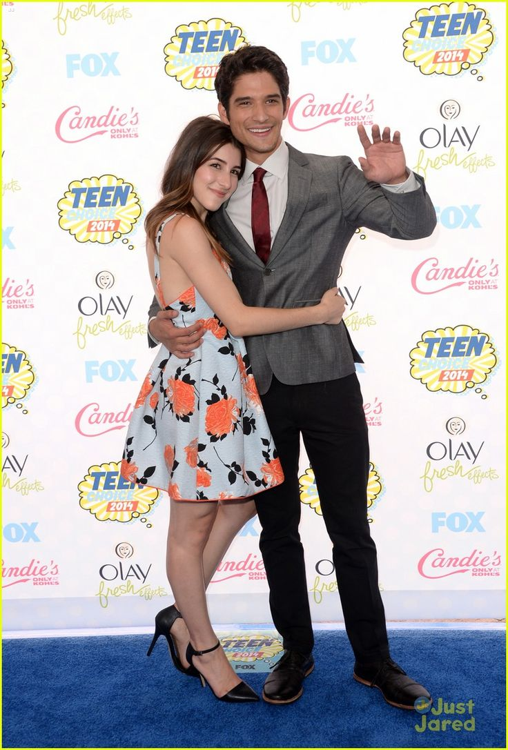 Tyler Posey and his fiancee Seana Gorlick at the Teen Choice Awards 2014