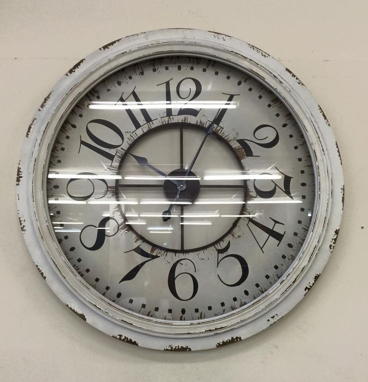 Large wall clock with number vintage