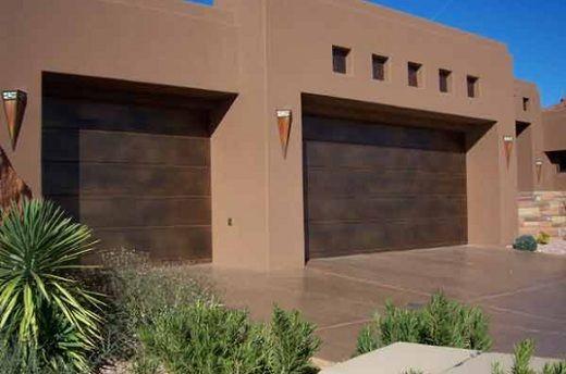 Image result for dark brown garage doors