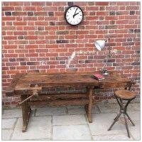 NEW | Large Wooden Workbench | mayflyvintage.co.uk | Warehouse Home Design Magazine