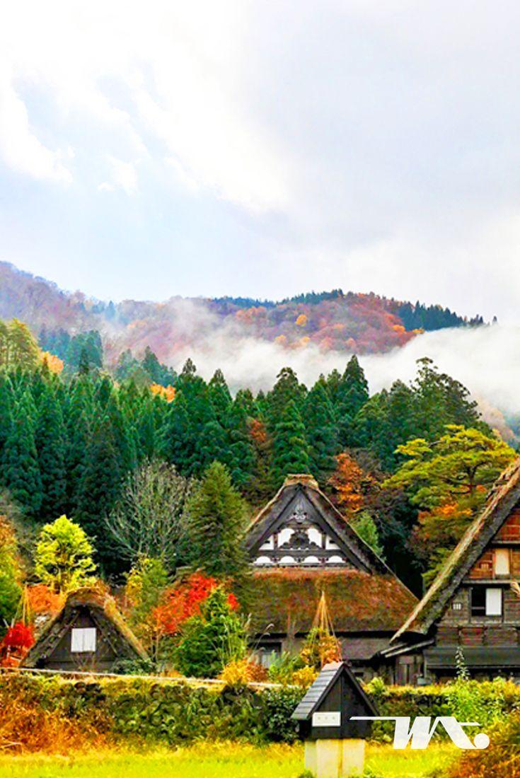 """Saatnya kembali ke tempat yang bebas dari hiruk pikuk pekotaan! Desa ini bernama Shirakawa. Salah satu pilihan tempat musim gugur indah di Jepang ini juga menjadi salah satu dari UNESCO World Heritage Sites di Jepang. Tempat ini terletak di dekat sungai Shogawa yang membentang panjang di prefektur Gifu. Disebut sebagai """"White River Old-District"""", di tempat ini musim gugur sangat indah untuk dinikmati karena alam khas musim gugur Jepang akan dipadukan dengan desain arsitektur bangunan…"""