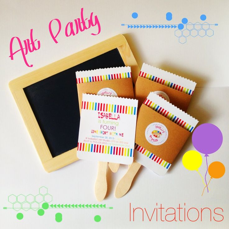 Art Party Invitations www.weheartparties.com