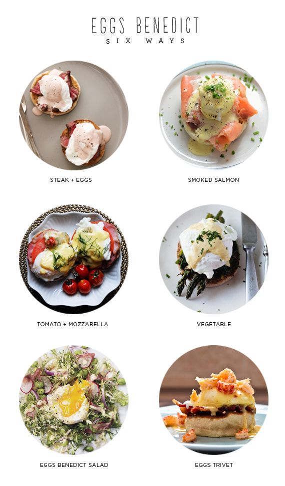 if you're making your mom brunch this weekend, or if you want to cook yourself some brunch to celebrate her even if she's not around, i've gathered some delicious looking eggs ben…
