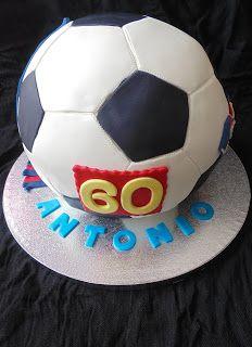 Horno obsesión: Pastel pelota de futbol