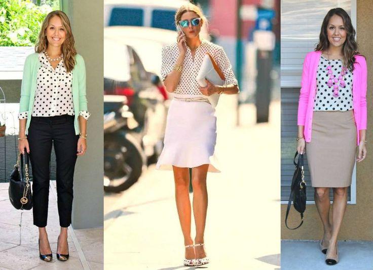 Модная блузка в горошек или с чем носить блузку в горошек.