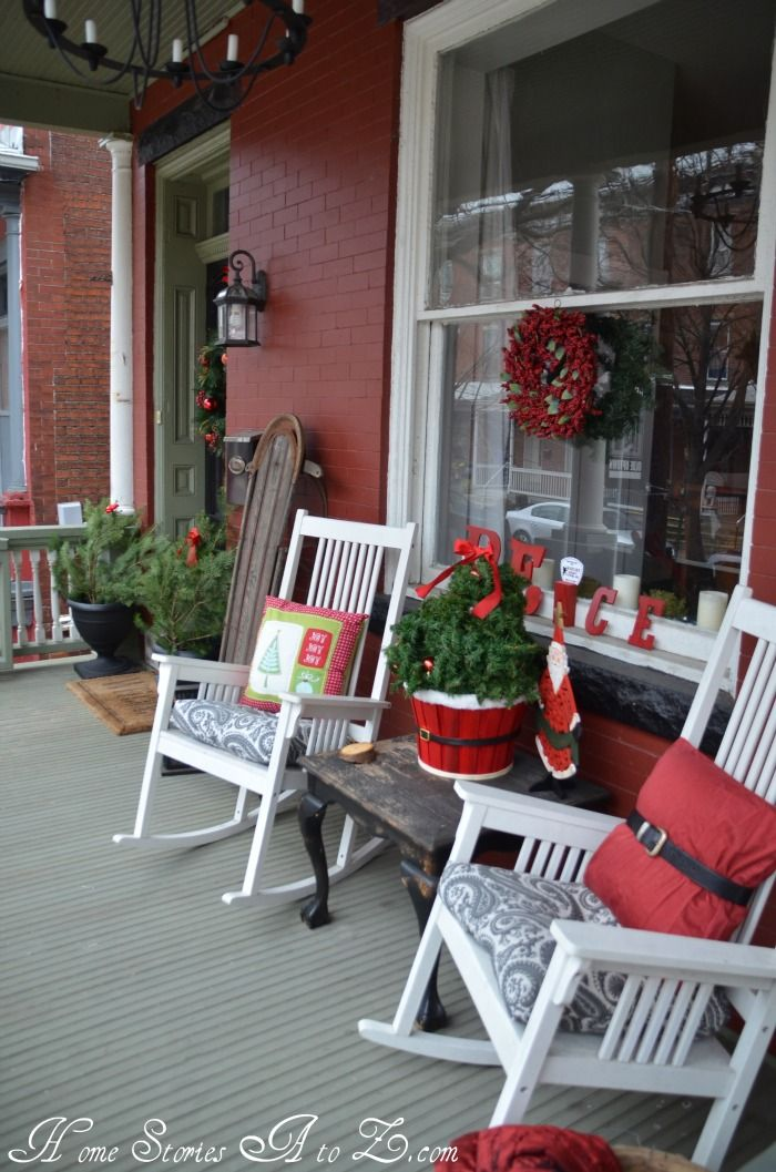 Porch Christmas Decorating Ideas 25+ best christmas front porches ideas on pinterest | christmas