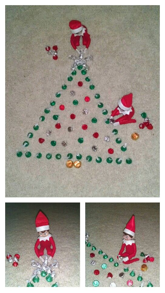 Elf on the shelf quick idea                                                                                                                                                     More