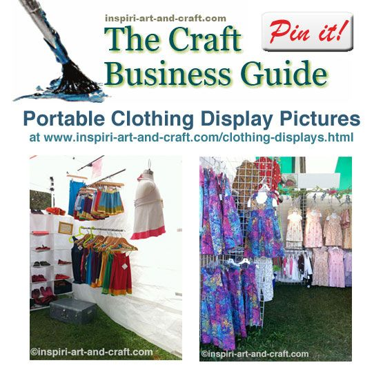 Lots of portable clothing display ideas and pictures at http://www.craftprofessional.com/clothing-displays.html