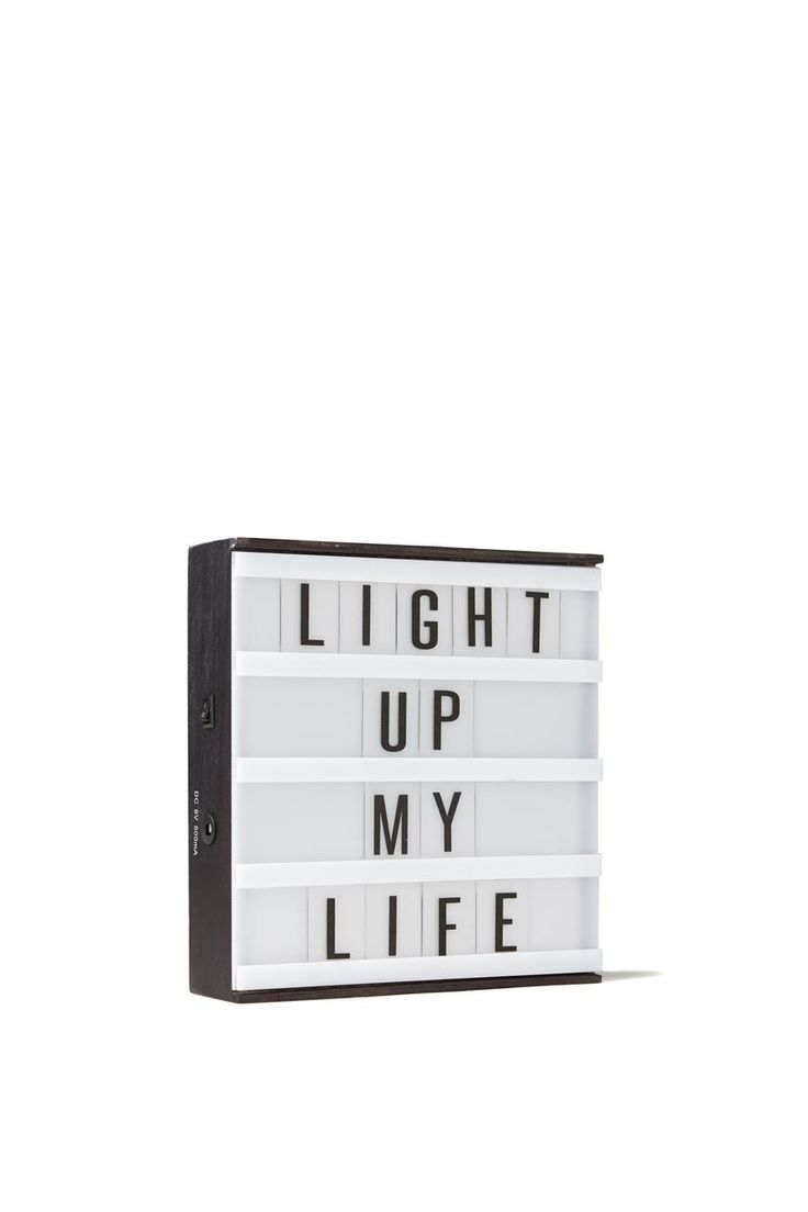 The Typo light box has had a baby! This new mini version of our light box can be put anywhere or everywhere- even hang it on your wall. Requires 6 x1.5V AA Batteries. Batteries not included. Can also run on mains power adaptor 9V DC 500m, Adaptor not included. Dimensions: 20cm x 20cm x 4cm.
