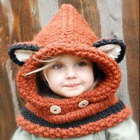ultimo disegno cappelli a maglia modello failynn volpe cappuccio bambino inverno cappelli - ID del prodotto : 60345098485 - m.italian.alibaba.com