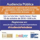 """Diario Vallevirtual: Audiencia pública sobre """"Garantías para el ejercic..."""