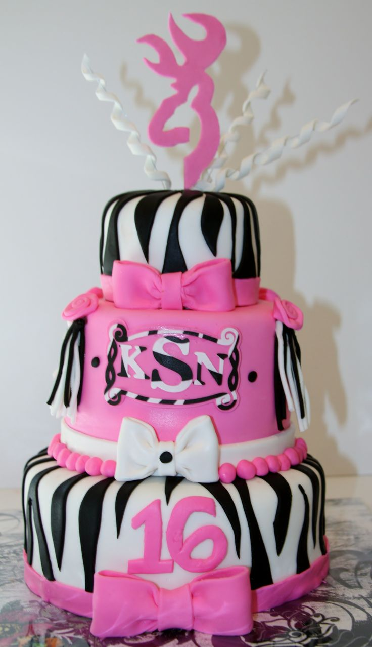 Girly Mixed With A Little Tomboy A Sweet 16 Cake For