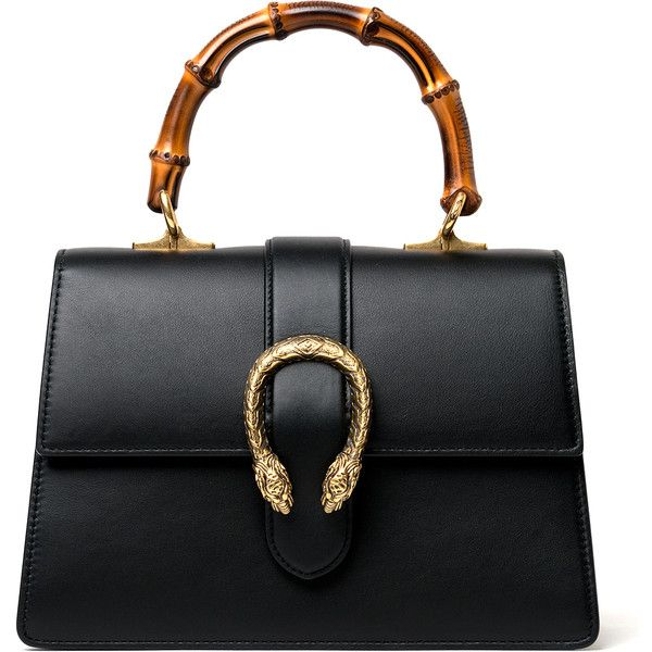 Gucci Dionysus Leather Top Handle Bag ($2,690) ❤ liked on Polyvore featuring bags, handbags, gift guide, kirna zabete, luxe list, gucci handbags, bamboo handbags, gucci, leather handbags and leather purses