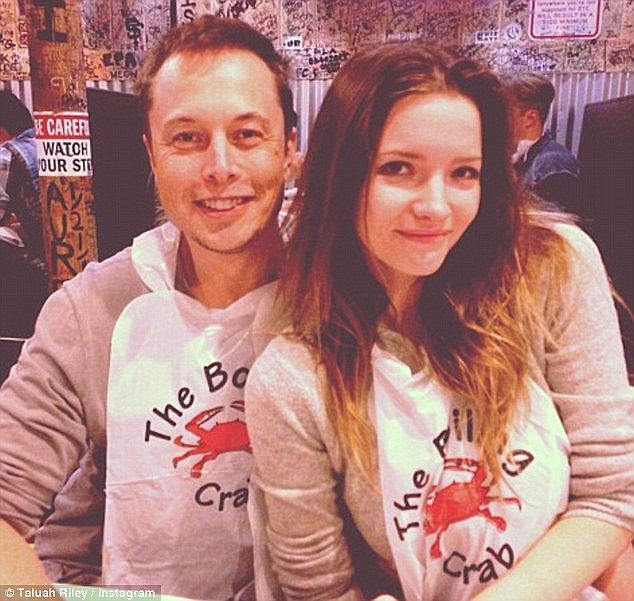 The odd couple: Elon Musk (left) reportedly took Tallulah Riley's virginity when they met in 2008 and although they are set to divorce for a second time she says she still loves him