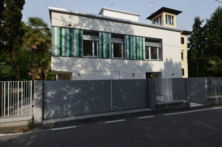 #Restauri e ristrutturazioni - #Riqualificazione #abitazione unifamigliare - #Treviso - prospetto principale d'ingresso.